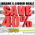 40% OFF Premium E-Juice at Vapor Kings