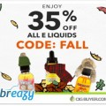 35% OFF All E-Liquid + Other Deals at Breazy.com