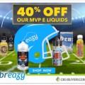 """40% OFF """"MVP E-Liquids"""" Sale at Breazy.com"""