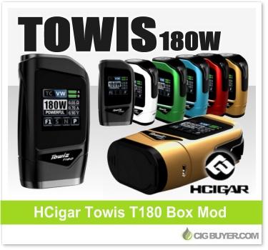 HCigar Towis T180 180W Box Mod