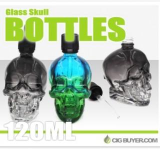 Empty 120ml Skull E-Liquid Bottles – $6.90 Each