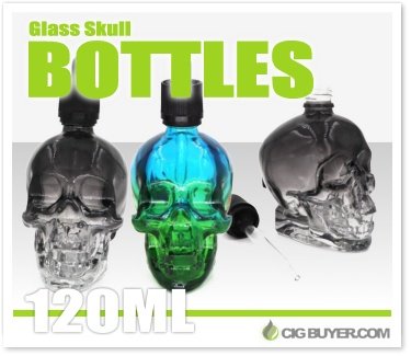 Iwodevape 120ml Skull E-Liquid Bottles