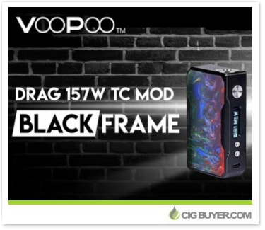 Voopoo drag 157w box mod black cig for Vape craft coupon code