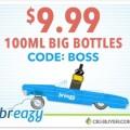 Breazy.com $9.99 Big Bottle (100ml) E-Juice Sale
