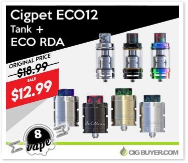 Cigpet ECO RDA / ECO12 Tank Deal