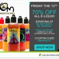 Om Vapors 70% OFF E-Juice Sale – 30ml for $2.39 / 120ml for $5.99