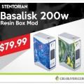 Stentorian Basalisk 200W Box Mod – $72.77