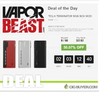 """Tesla Terminator 90W Mod """"Deal Of Day"""" – ONLY $14.42!"""