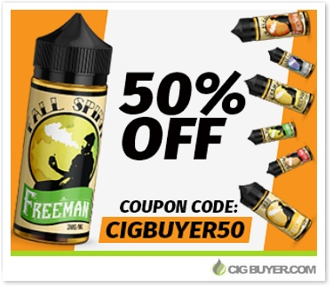 50% OFF Freeman Vape Juice