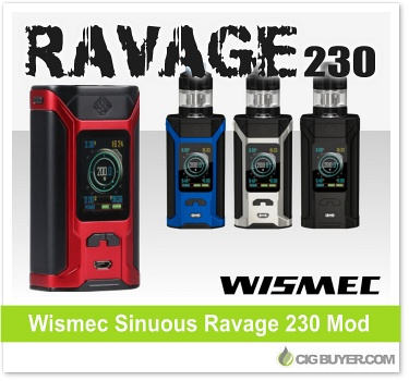 Wismec Sinuous Ravage 230 Box Mod Kit