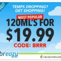 Premium 120ml E-Juice for $19.99 at Breazy.com