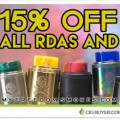 15% OFF Rebuildable Atomizers (RTA's & RDA's) at MFS