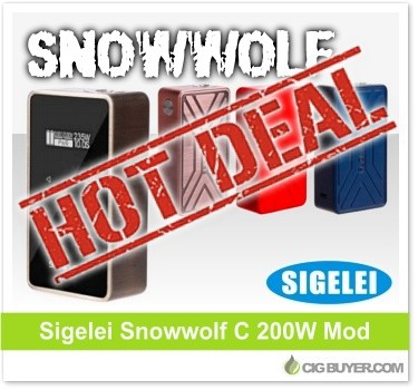 Sigelei Snowwolf 200W C Box Mod Deal