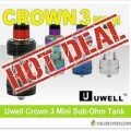 Uwell Crown 3 Mini Tank Deal – ONLY $9.99!!!
