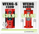 Sigelei Snowwolf VFeng-S and VFeng Squonk Deals – $39.99 / $49.99