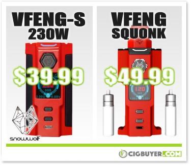 Sigelei Snowwolf VFeng-S / Squonk Mod Deals