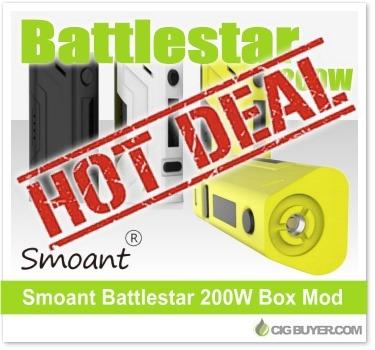 Smoant Battlestar 200W Box Mod Deal