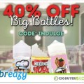 "40% OFF ""Big Bottle Friday"" Dessert E-Juice Sale at Breazy.com"