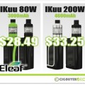 Eleaf iKuu i80 and i200 Starter Kit Deals – $28.49 / $33.25