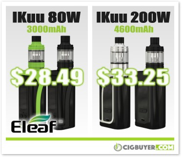 Eleaf iKuu i80 and i200 Starter Kits