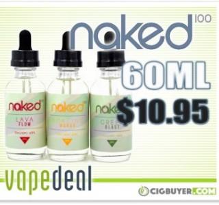 Naked 100 E-Liquid Deal – $10.95 for 60ml