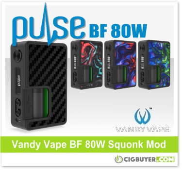Vandy Vape Pulse BF 80W Squonk Mod – $44 93 | Cig Buyer com
