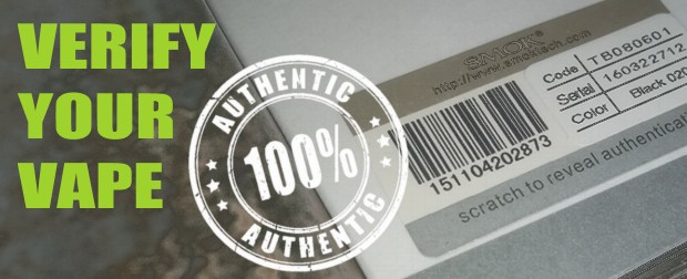 Verify E-Cigarette & Vape Products are Authentic