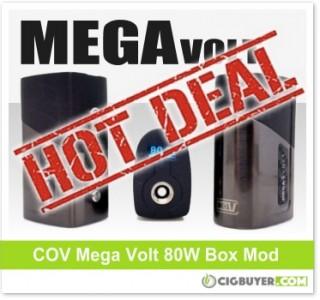 Council Of Vapor Mega Volt 80W Box Mod – ONLY $20.24!