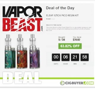 """Eleaf iStick Pico Resin 75W Kit """"Deal Of Day"""" – ONLY $37.77!"""