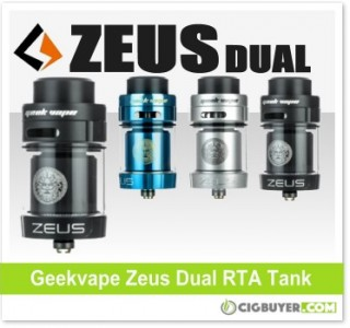 Geekvape Zeus Dual RTA Tank – $19.99