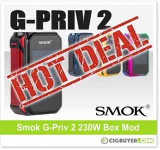 Smok G-Priv 2 230W Box Mod – ONLY $44.99!