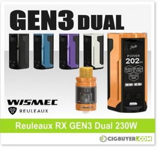Wismec Reuleaux RX GEN3 Dual 230W Box Mod / Kit – From $36.90