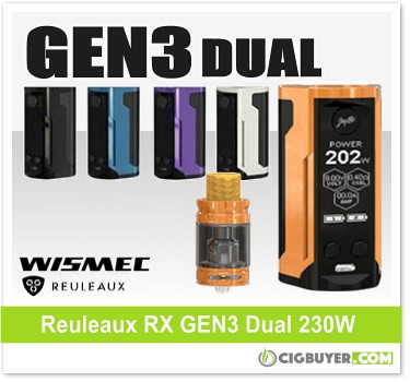 Wismec Reuleaux RX GEN3 Dual 230W Box Mod Kit