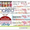 50%+ OFF Naked 100, Dinner Lady, Loaded & Keep It 100 E-Liquid