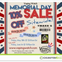 Vaping Watch 10% OFF Memorial Day Sale – 120ml for $10.79
