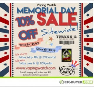 vaping-watch-10-off-memorial-day-sale