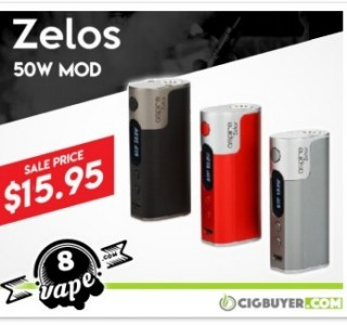 Aspire Zelos 50W (2500mAh) Box Mod – ONLY $15.95!