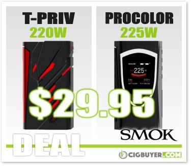 Smok T-Priv 220W / Procolor 225W Box Mod Deal