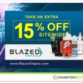 Blazed Vapes 15% OFF Sitewide Sale