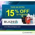 Blazed Vapes 15% OFF Sitewide Sale
